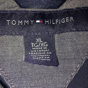Tommy Hilfiger Shirts - Tommy Hilfiger Men's Navy Blue Short Sleeve Polo